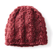 Bernat Shining Swirls Knit Hat