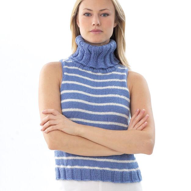 Bernat Stripe Sleeveless Pullover, S