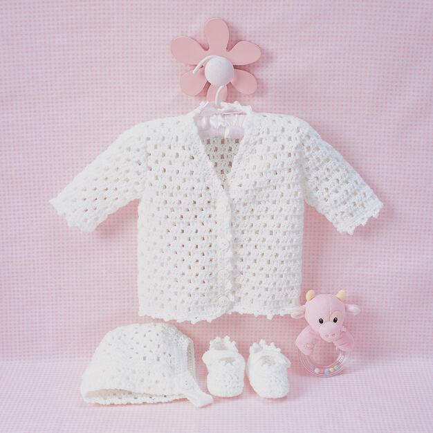 Bernat Lacy Set to Crochet, Bonnet