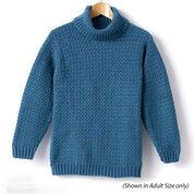 Caron Child's Crochet Turtle Neck Pullover, Size 2