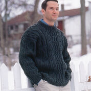 Patons Cabled Crew Neck, S