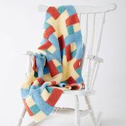 Caron Log Cabin Baby Blanket