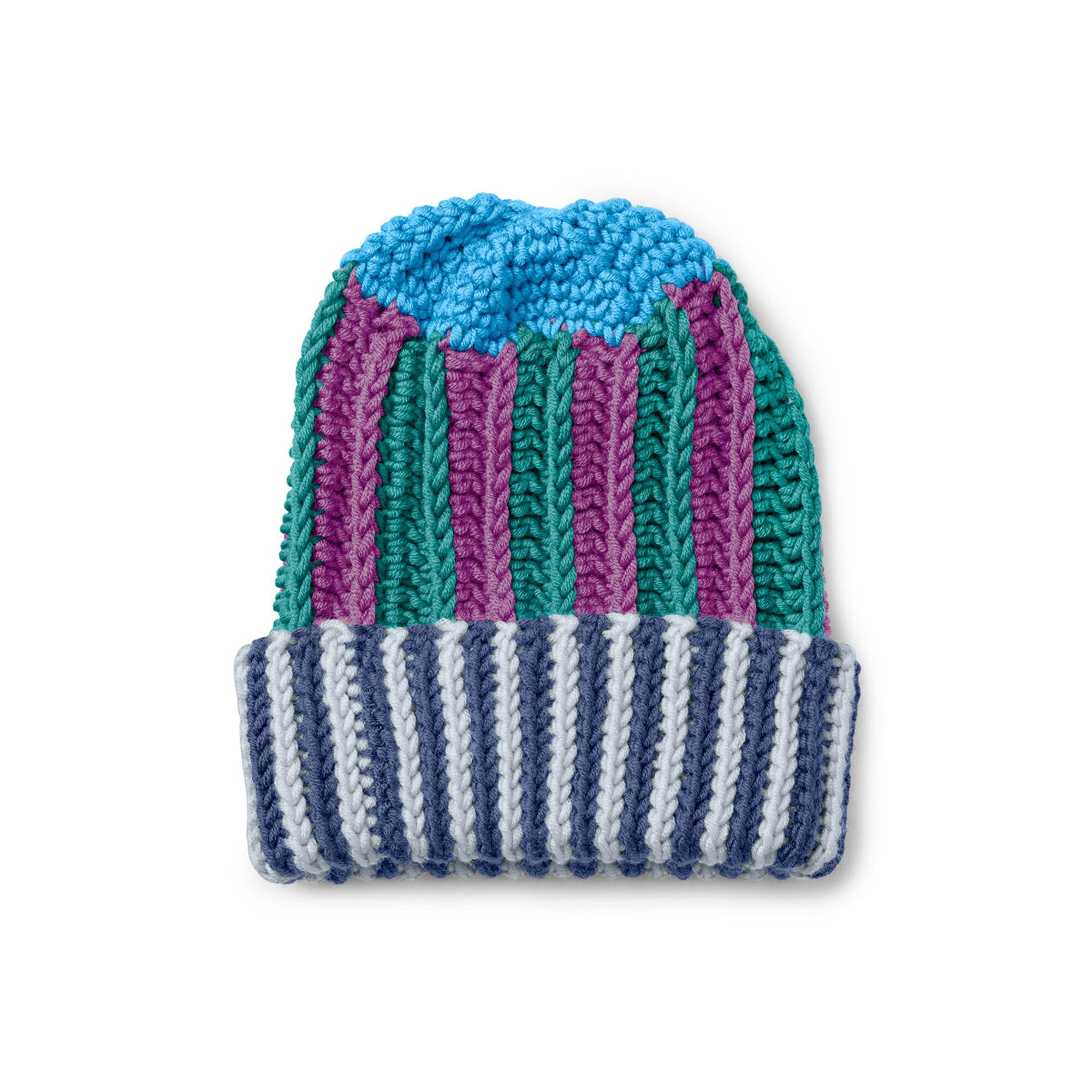 Caron x Pantone Multi Stripes Crochet Hat Free Pattern   Yarnspirations