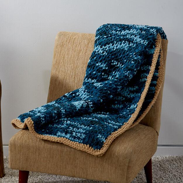 Bernat Tunisian Honeycomb Blanket, Version 1