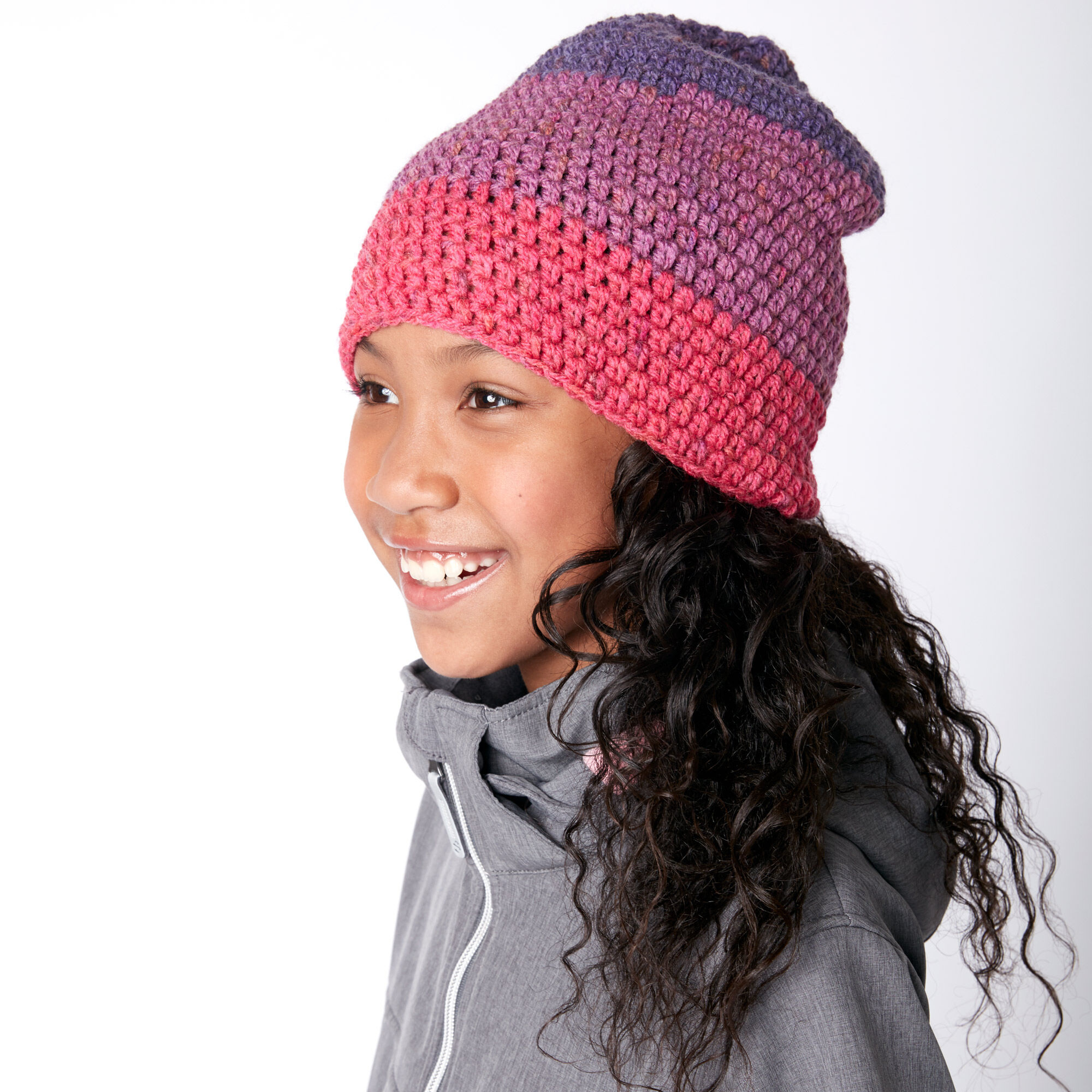 Caron Slouchy Crochet Beanie Pattern | Yarnspirations | Yarnspirations