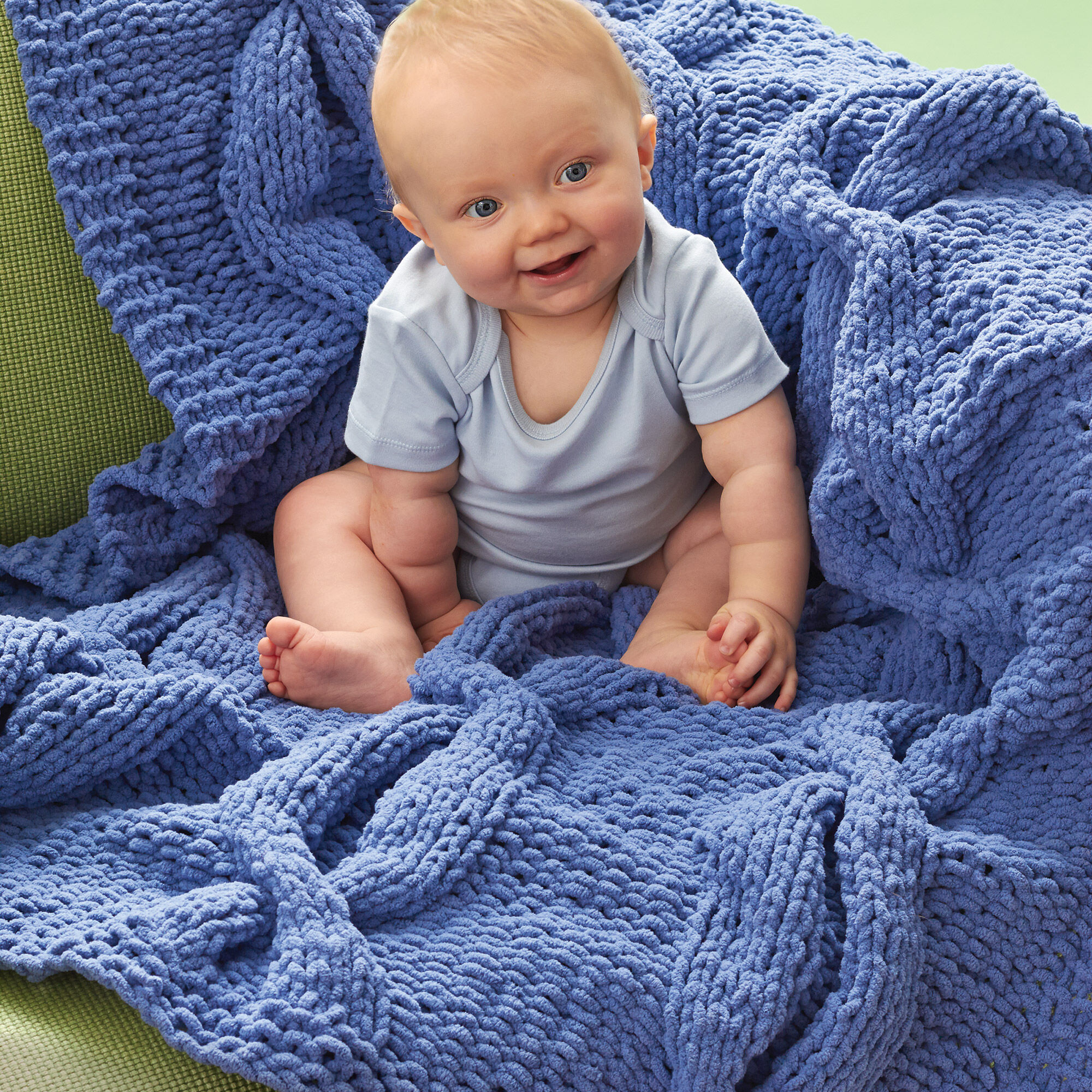 Bernat Coziest Cable Blanket Yarnspirations