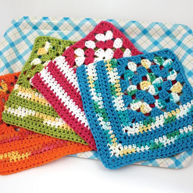 Lily Sugar'n Cream Granny Corner Dishcloth, Version 1