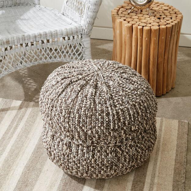 Bernat Wheel Spokes Crochet Pouf