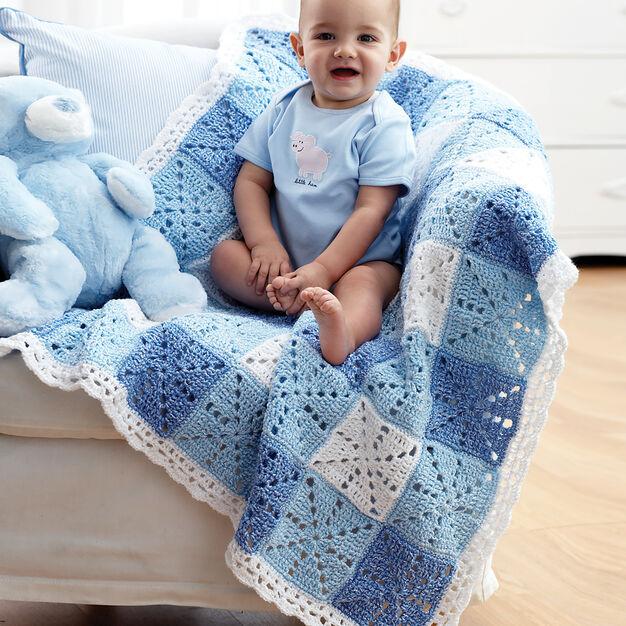 Bernat Gingham Blanket