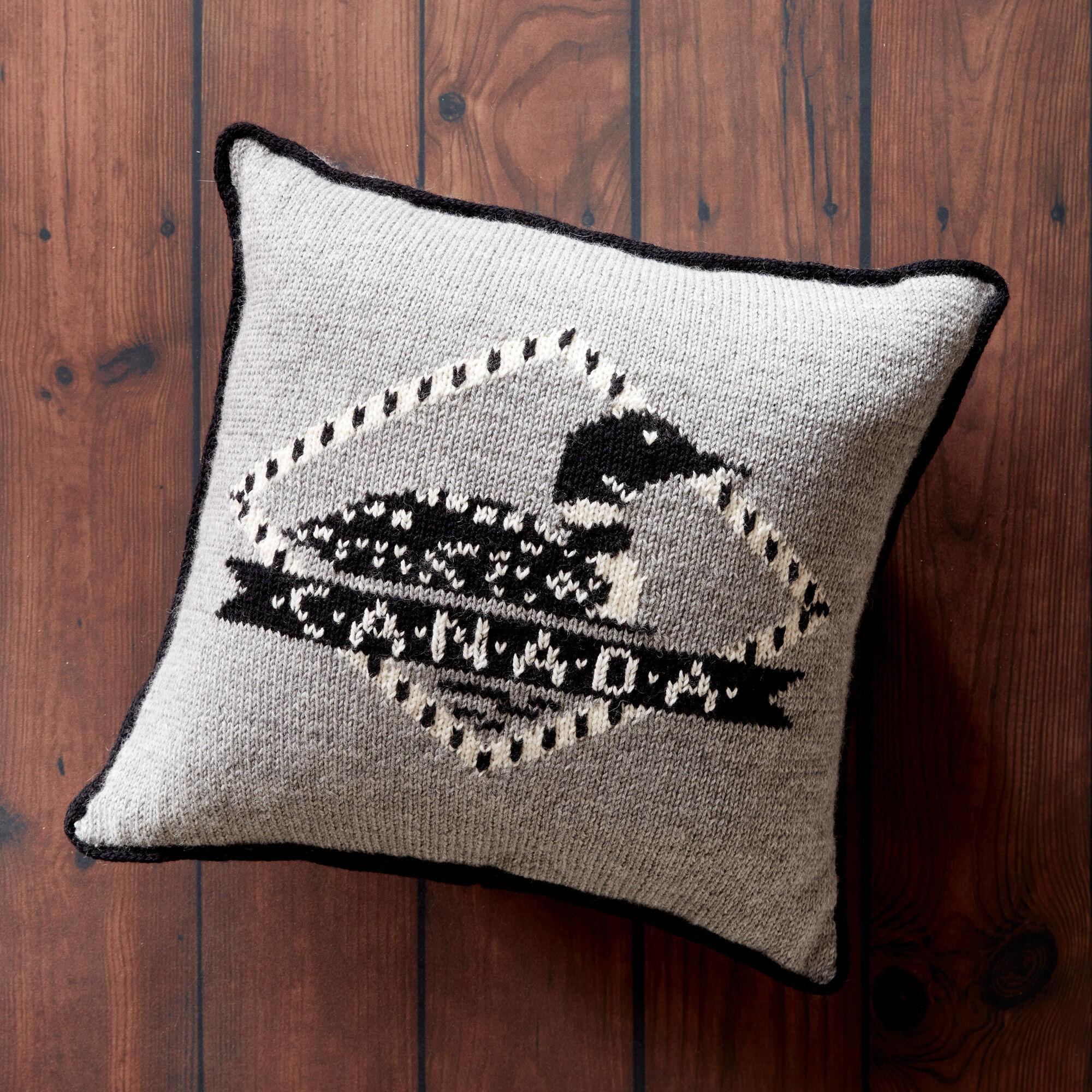 Patons Loon Knit Pillow Pattern | Yarnspirations