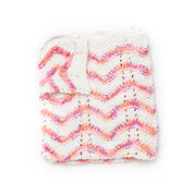 Bernat Peachy Peaks Knit Blanket