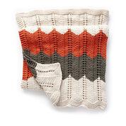 Bernat Ripple and Ridge Knit Blanket