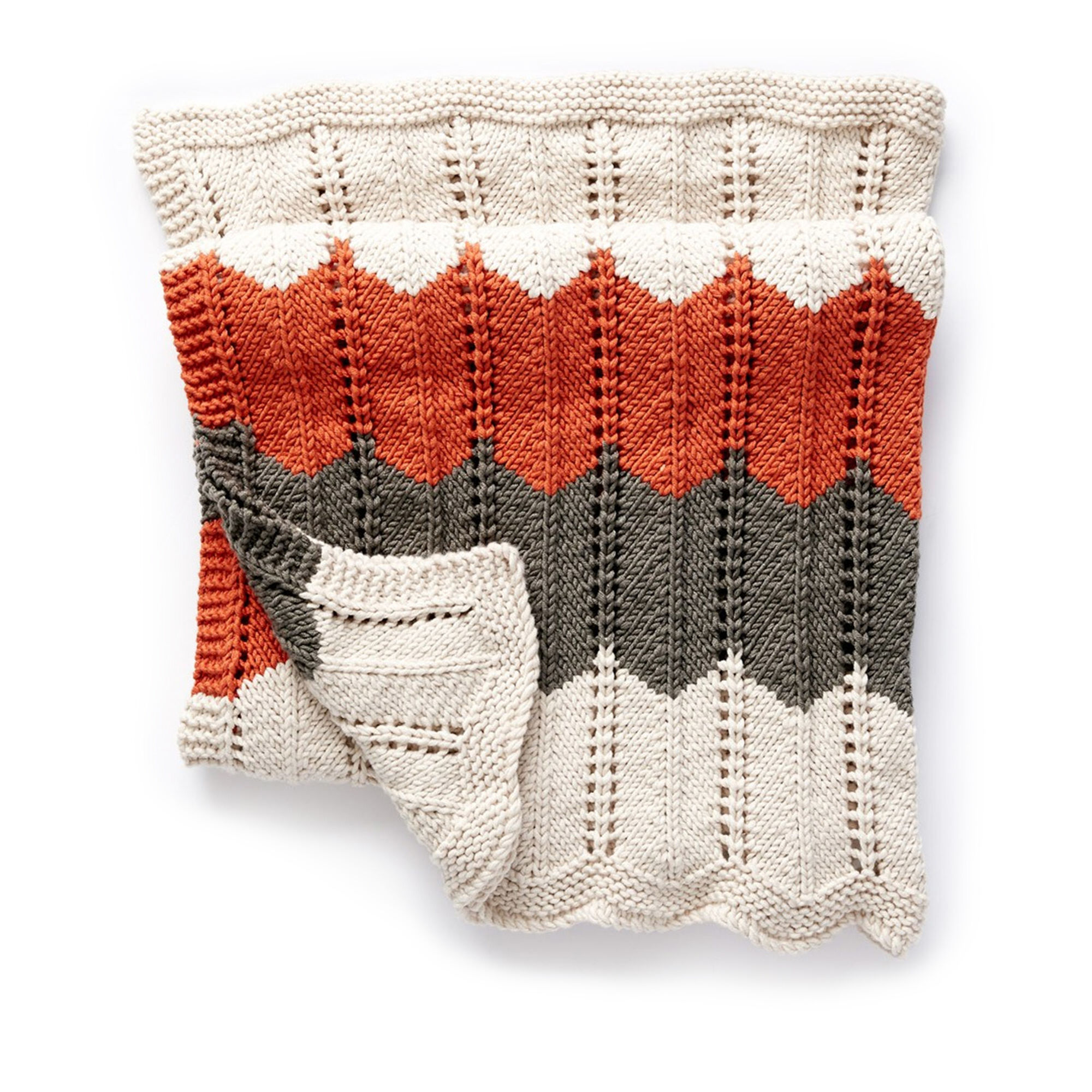 Bernat Ripple and Ridge Knit Blanket | Yarnspirations