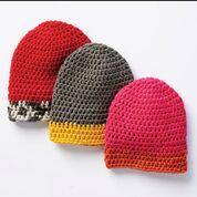 Bernat Dipped Tip Crochet Hat, Version 1 - 4/6 years