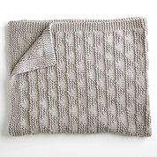 Bernat Cozy Triangles Knit Throw