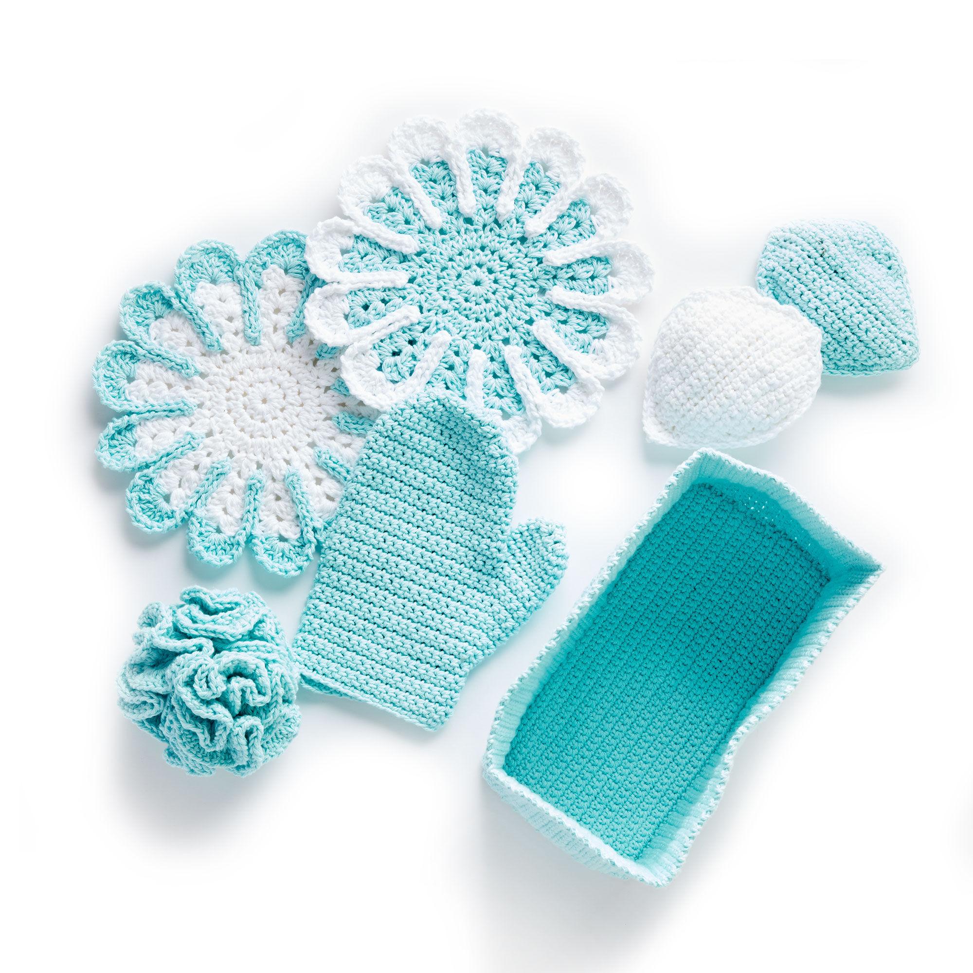 Bernat Crochet Spa Day Kit, Bath Mitt | Yarnspirations