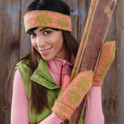 Patons Fair Isle Ski Band and Mittens