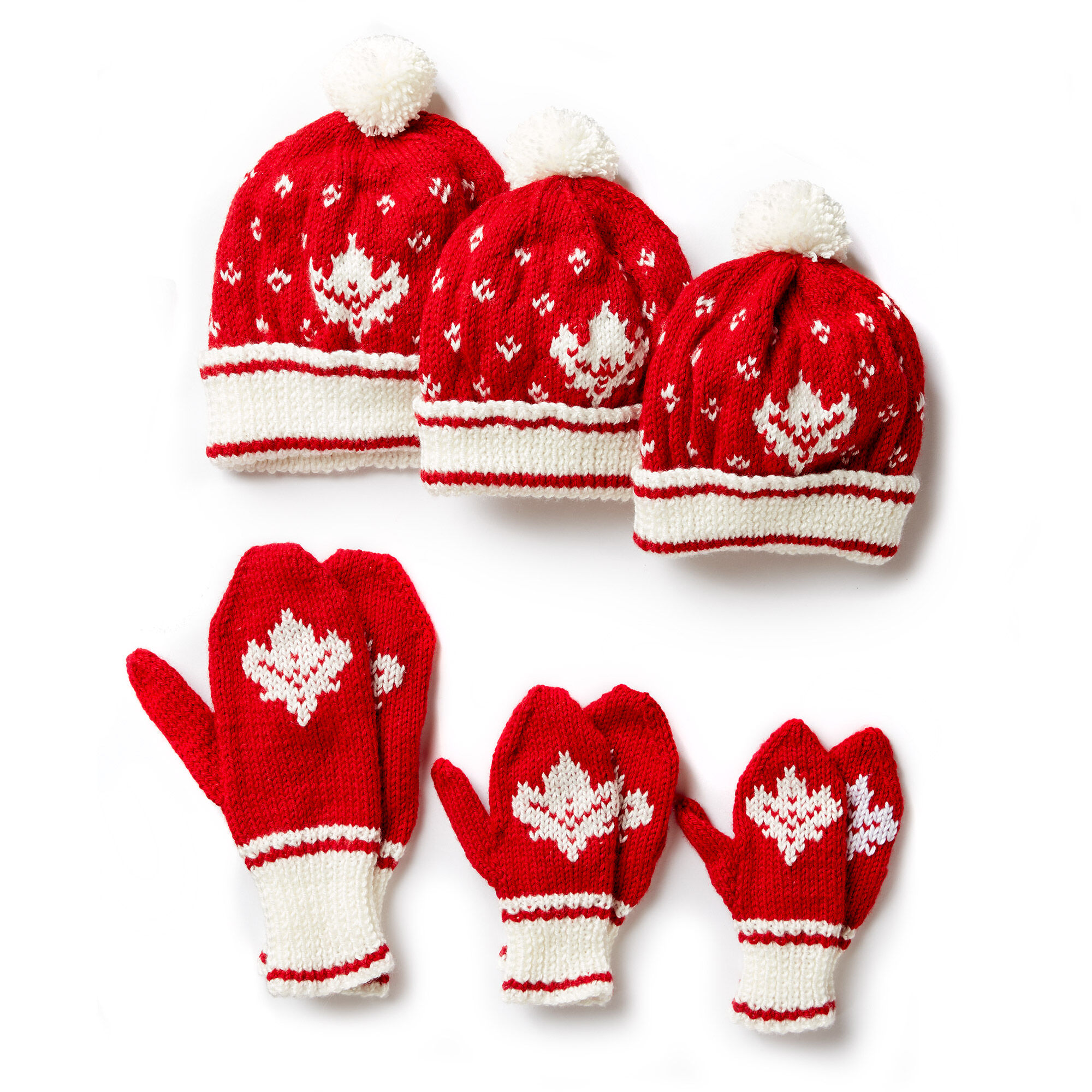 Knitting Websites Canada : Patons canada knit toque and mittens child