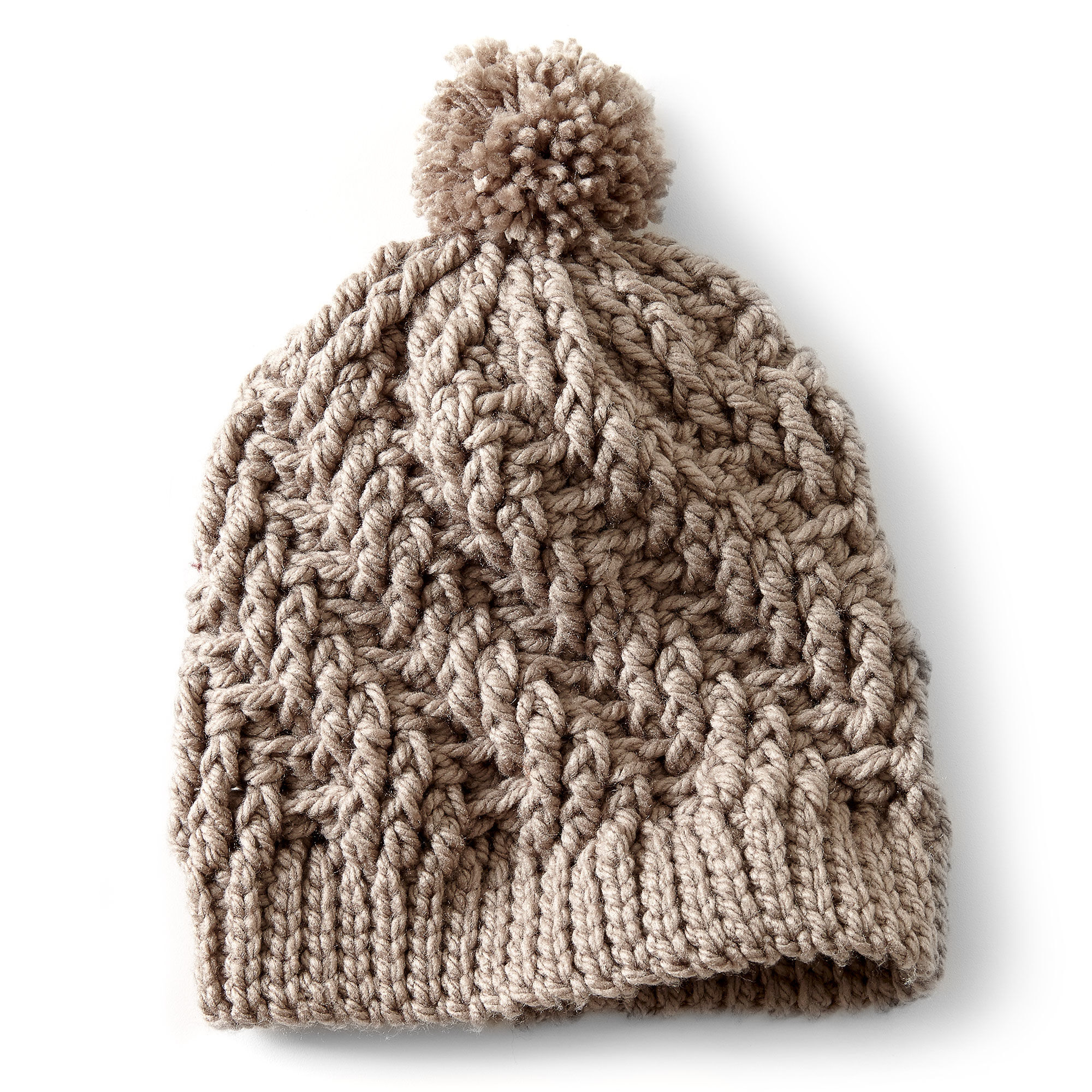 Bernat Stepping Texture Hat | Yarnspirations