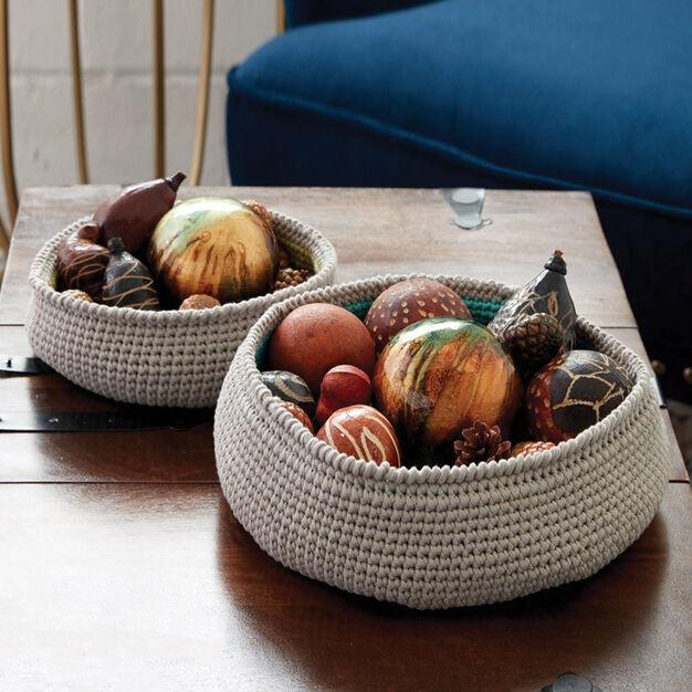 Bernat Color Pop Crochet Baskets, Small