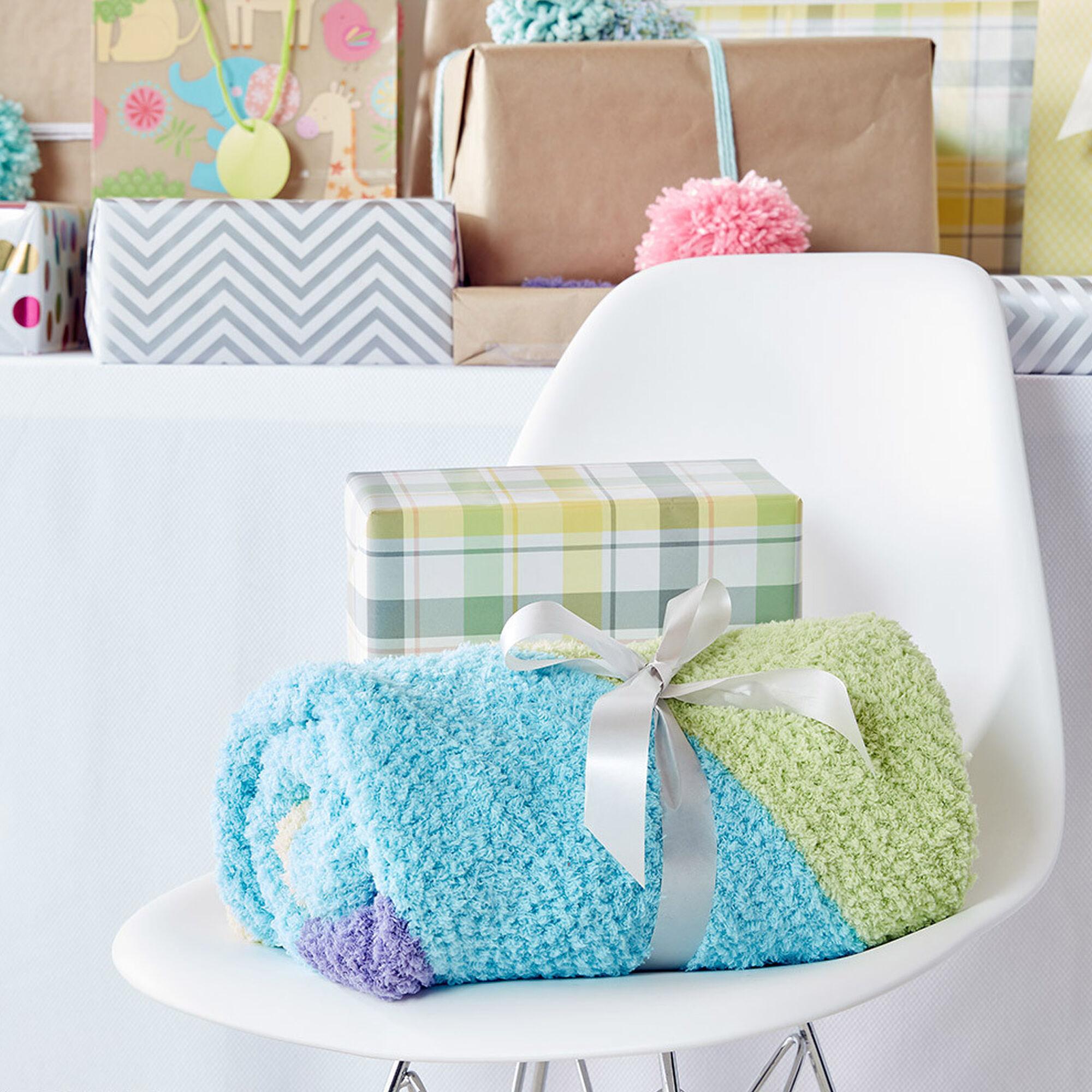 Bernat Baby Chevron Knit Blanket   Yarnspirations