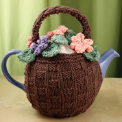 Lily Sugar'n Cream Flower Basket Tea Cozy