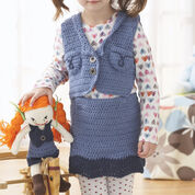 Lily Sugar'n Cream Denim Skirt & Vest, Skirt - 2 yrs