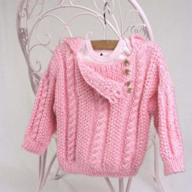 Caron Cabled Toddler Pullover, S