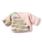 Bernat Knit Colorblock Kimono Cardigan, 6 mos