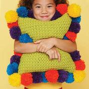Bernat Pom-Pom-Edged Pillow