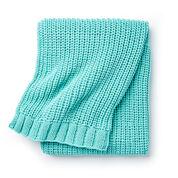 Bernat Shaker Knit Rib Blanket
