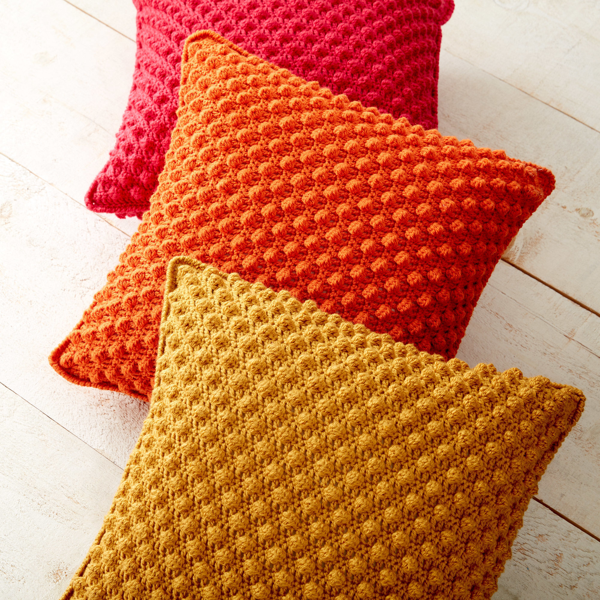 yellow licious bobbie yarnspirations pillow bobble patons pillows