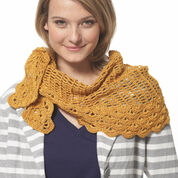 Patons Grace Staggered Shells Crochet Wrap