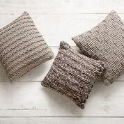 Bernat Crochet Pillow Trio, Vertical Rib
