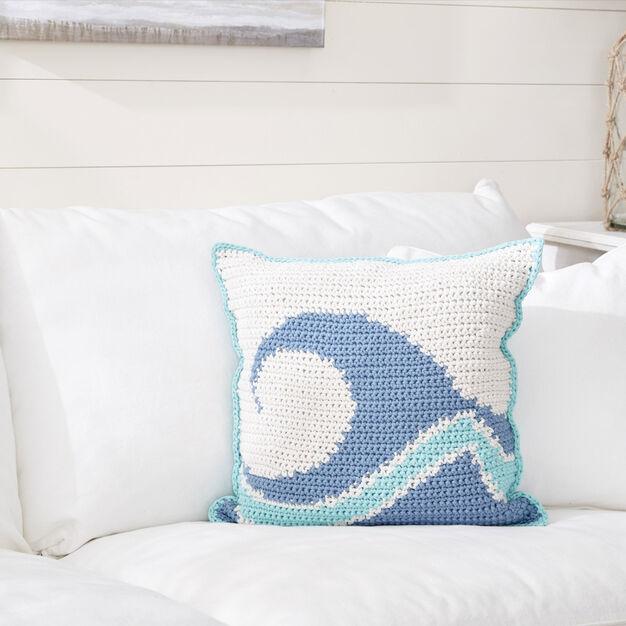 Bernat Catch a Wave Crochet Pillow
