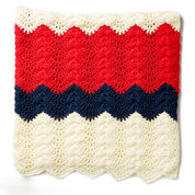 Caron Summer Ripple Crochet Blanket
