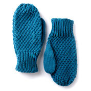 Caron Textured Family Knit Mittens