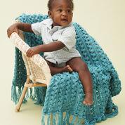 Bernat Hairpin Lace Baby Blanket