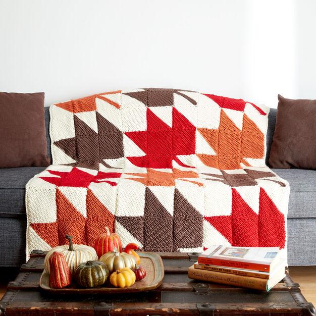 Caron Autumn Leaves Crochet Afghan