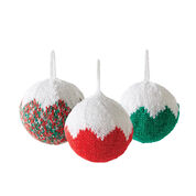 Bernat Classic Christmas Tree Ornament, Red & Green