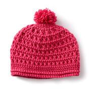 Caron Pebbled Texture Crochet Hat