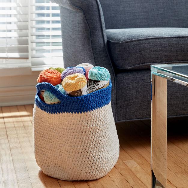 Lily Sugar'n Cream Crochet Handy Basket