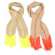 Caron Hot Point Scarf, Neon Coral