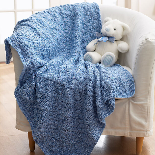 Bernat Textured Crochet Blanket