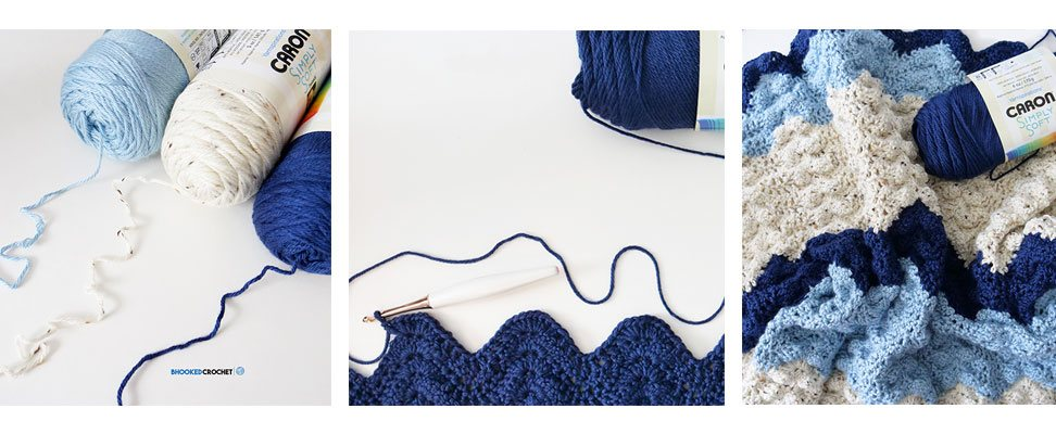 Summer Ripple Afghan in Caron Simply Soft by Yarnspirations