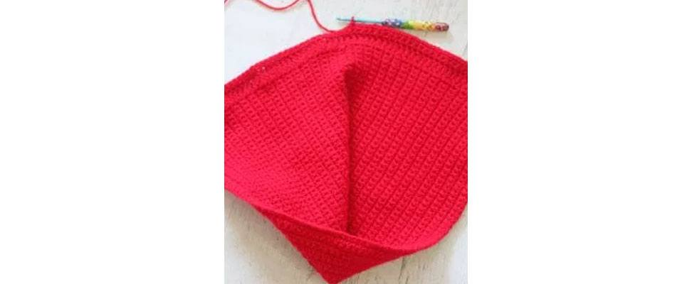 Little Red Riding Hood Cape in Bernat Super Value yarn by Repeat Crafter Me