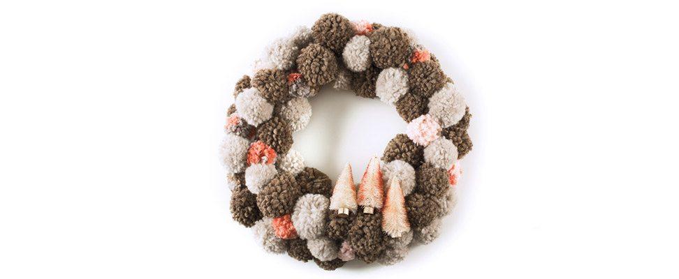 Yarn Pompom Wreath