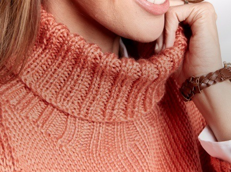 Knit Turtleneck Pullover