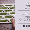 Knit the Contrast Cross Stitch