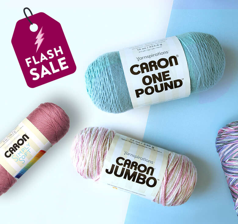 Today Only! Save on select Caron yarns.